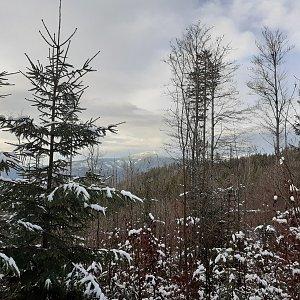 Čaky na vrcholu Smrkovina JZ vrchol (2.1.2021 14:20)