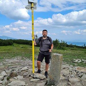 Jiří Gryz na vrcholu Pilsko (9.7.2021 8:28)