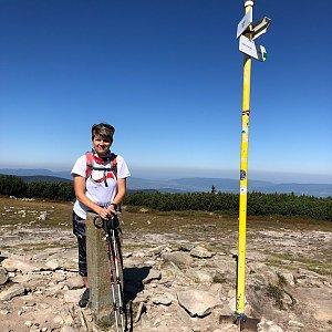 Radka Dubská na vrcholu Pilsko (10.9.2021 11:41)