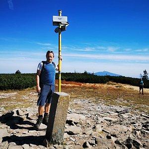 Tom Vachala na vrcholu Pilsko (11.9.2021 11:35)