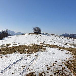 Petr Pepe Peloušek na vrcholu Na Vrchu S vrchol (22.2.2021 11:55)