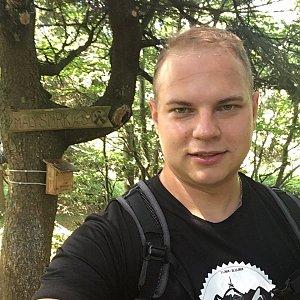 Pavel Šišolák na vrcholu Malý Smrk (4.8.2019 11:56)