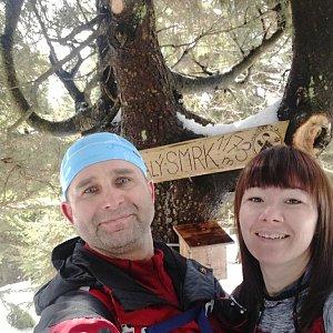 Brůča&Bubu na vrcholu Malý Smrk (30.3.2018 13:00)