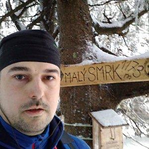 Petr Kowolowski na vrcholu Malý Smrk (19.1.2018 16:00)