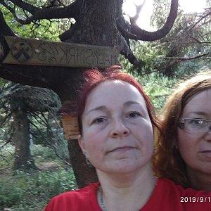Alžběta Šlosarová na vrcholu Malý Smrk (13.9.2019 14:10)