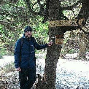 Filip Krupa na vrcholu Malý Smrk (8.4.2018 11:30)