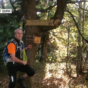 Čestmír Kubíček na vrcholu Malý Smrk (1.10.2019 14:40)