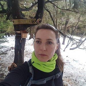 Marcela Kubíčková na vrcholu Malý Smrk (31.1.2020 15:38)