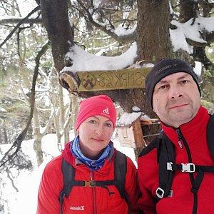 Dana + jirka na vrcholu Malý Smrk (14.2.2020 15:53)