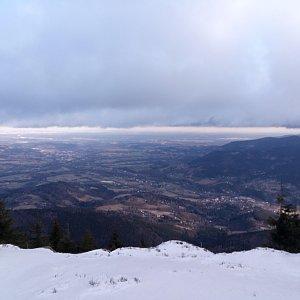 Milan Meravy na vrcholu Malý Smrk (18.2.2020 8:41)