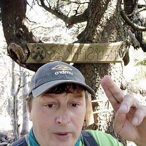 Roman Grebenar na vrcholu Malý Smrk (17.5.2020 11:05)