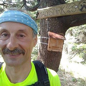 Jiří Sumbal na vrcholu Malý Smrk (18.8.2018 11:36)