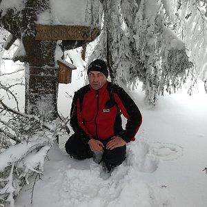 Jiří P na vrcholu Malý Smrk (20.1.2019 13:59)