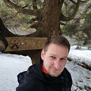 Jiří Tomaštík na vrcholu Malý Smrk (1.5.2021 12:35)