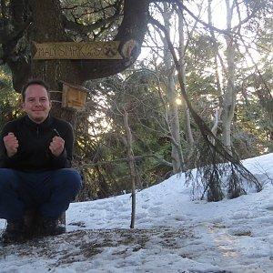 Jan Rendl na vrcholu Malý Smrk (17.3.2019 16:30)