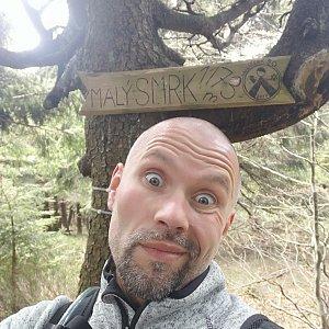 Pavel Krömer na vrcholu Malý Smrk (2.5.2019 13:11)