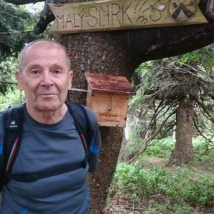 MUDr.Svatopluk Kunčar na vrcholu Malý Smrk (27.6.2019 12:30)