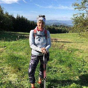 Radka Dubská na vrcholu Soušský vrch (3.10.2021 12:21)