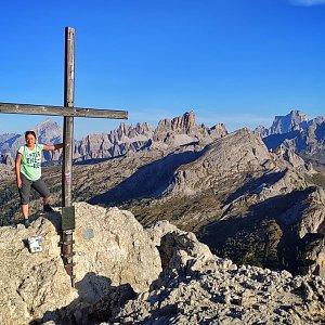 Ivetast na vrcholu Sass de Stria (25.9.2021 16:45)