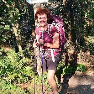 Anna na vrcholu Rycierova hora (9.8.2020 8:01)