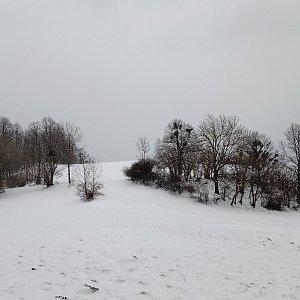 Iva Purmenská na vrcholu Na Peklech (21.3.2021 16:02)