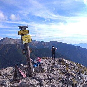 Roman Tigge na vrcholu Sivý vrch (24.9.2019 13:10)