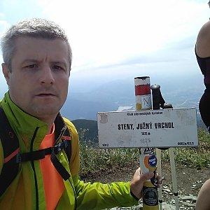 Vítězslav Vrána na vrcholu Steny, južný vrchol (20.7.2019 12:26)