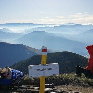 Pepino na vrcholu Steny, južný vrchol (13.10.2019 10:15)