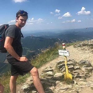 Barbora Dreslerová na vrcholu Steny, južný vrchol (4.8.2018 12:15)