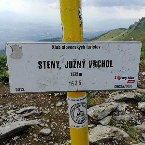 Vladimír na vrcholu Steny, južný vrchol (15.8.2020 13:45)