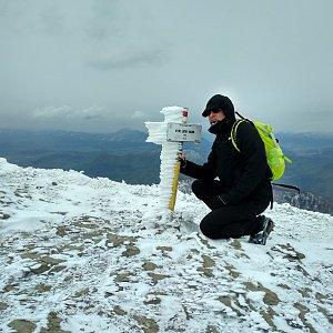 Aleš Sýkora na vrcholu Steny, južný vrchol (6.5.2019 13:58)