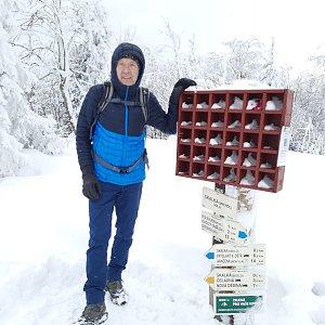 MUDr.Svatopluk Kunčar na vrcholu Skalka JV vrchol (20.3.2021 13:06)