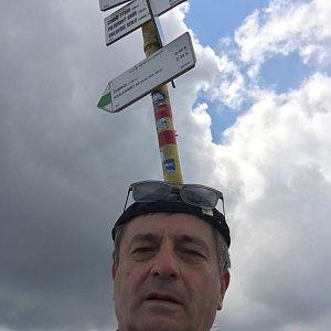 Jarek na vrcholu Stoh (8.7.2019 13:25)