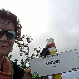 Anna na vrcholu Stratenec (15.9.2018)