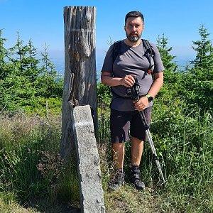 Jiří Gryz na vrcholu Magura (6.7.2021 9:30)