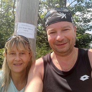 Jiří a Iveta na vrcholu Trzy kopce (24.7.2021 13:23)