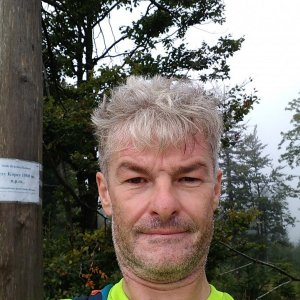 Jaroslav Macura na vrcholu Trzy kopce (29.8.2021 9:45)