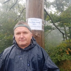 Michael na vrcholu Trzy kopce (24.8.2021 14:56)