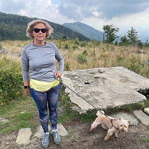 Magda na vrcholu Trzy kopce (4.9.2021 10:40)