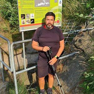 Jiří Gryz na vrcholu Jaskinia Malinowska (25.7.2021 8:04)