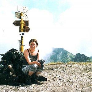 Bouřka na vrcholu Suchý (4.7.2003 10:50)