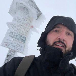 koc256 na vrcholu Dlouhé stráně (8.12.2019 12:30)
