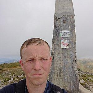 Lukáš Žídek na vrcholu Malý Kriváň (13.9.2019 12:20)