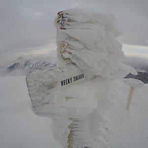 Pvlzck na vrcholu Malý Kriváň (12.1.2018 8:26)