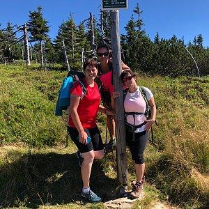 Kateřina Turčeková na vrcholu Šerák (21.8.2020 10:30)