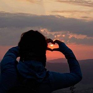 Léňa Manová na vrcholu Šerák (14.8.2020 5:00)