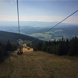 Martina Šinclová na vrcholu Šerák (28.9.2017 10:56)