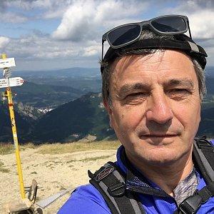 Jarek na vrcholu Poludňový grúň (8.7.2019 12:15)