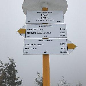 Terez Valčíková na vrcholu Reváň (3.3.2019 11:50)
