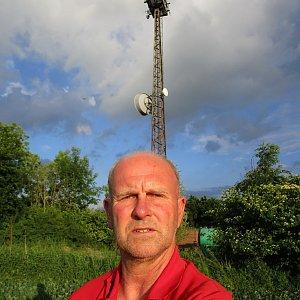 Michal Kříž na vrcholu Stráže (11.6.2021 18:40)